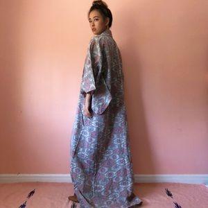 Vintage Brocade Full Length Kimono